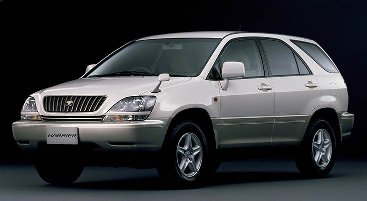 The first Toyota Harrier launched in 1997.