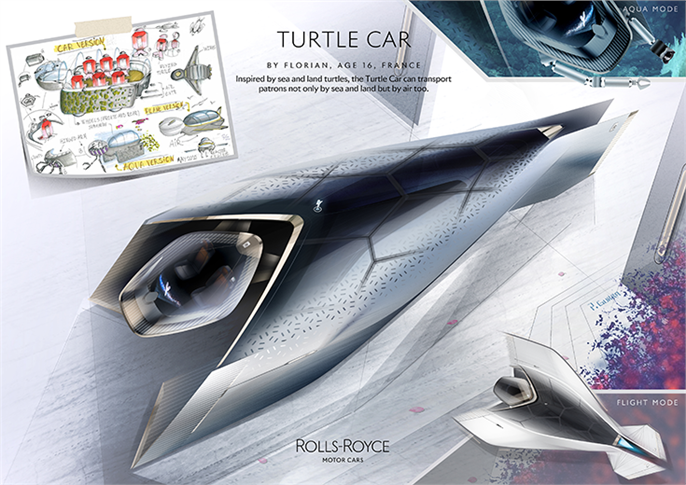 Rolls-Royce Turtle Car by Florian, age 16, France.