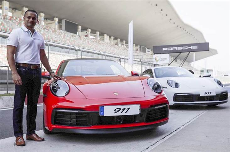 Porsche India director Pawan Shetty at the India launch of the new Porsche 911