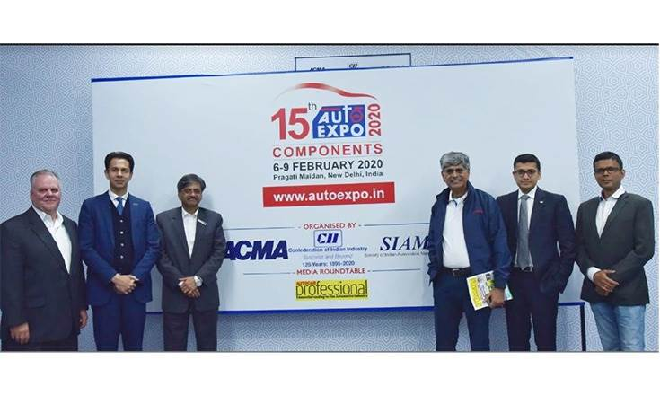 L-R: Scott Mackie, VP and GM, Shaw Development; Deepak Jain, President, ACMA and CMD, Lumax Industries; CV Raman, Executive Director, Engineering, Maruti Suzuki India; Jayant Davar, Founder, Co-Chairman and MD, Sandhar Technologies; Abhimanyu Saraf, Executive Director, Vikas Group; and Sumantra B Barooah, Executive Editor, Autocar Professional.