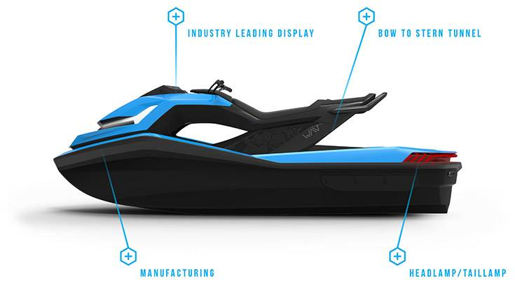 The Nikola Water Adventure Vehicle (WAV) concept was showcased for the first time ever.