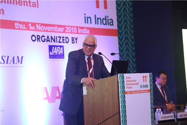 Captain N S Mohan Ram, advisor, TVS and Chairman, SIAM Recycling group, gives an update on the Indian vehicle recycling scenario in the AAEF.