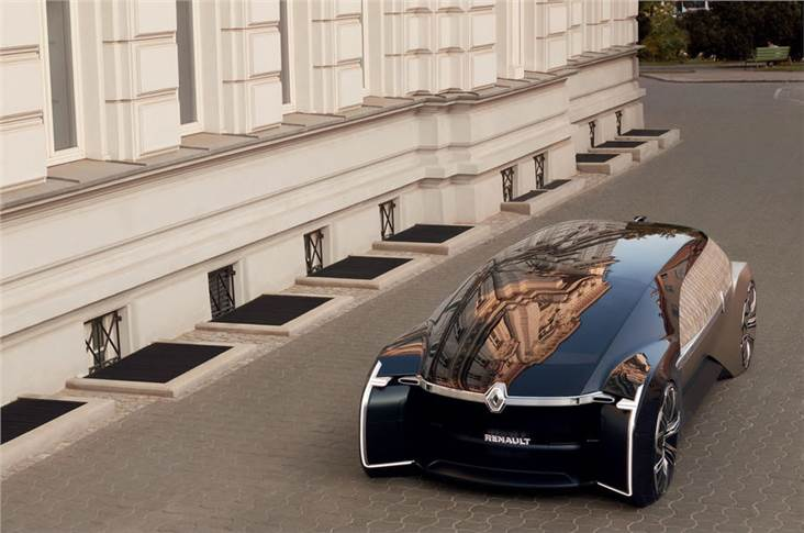 It seats up to three people and is 5.8 metres long a similar length to Rolls-Royce's Phantom