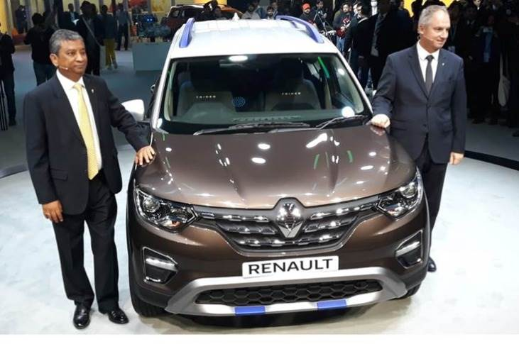 The Triber Easy R AMT was unveiled by Fabrice Cambolive, senior VP, Chairman of Africa-Middle-East-lndia-Pacific Region, Groupe Renault and Venkatram Mamillapalle, Country CEO and MD, Renault India Operations.