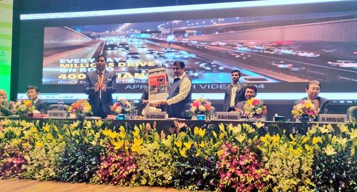 Transport Minister Nitin Gadkari and other dignitaries launched the ICAT NuGen Drive Safe Club Mobile App, which recognises and rewards safe driving habits.
