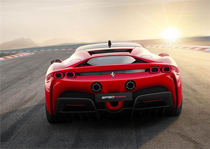 SF90 Stradale does 0-100kph in 2.5sec - a record for a road-going Ferrari. 0-200kph takes 6.7sec, while top whack (claimed not to be the main performance focus) is 212mph/340kph.