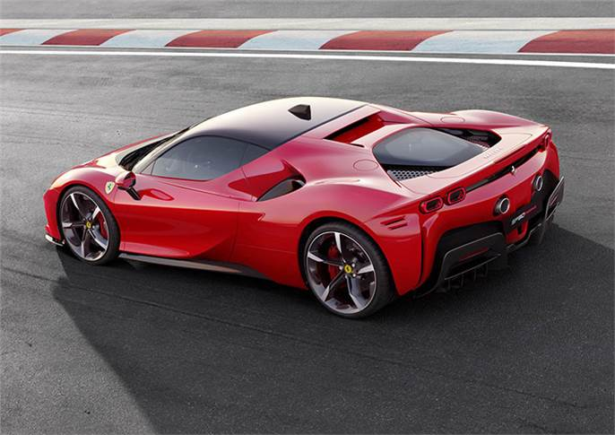 Plug-in hybrid packs 986bhp, courtesy of a V8 and three electric motors, and is faster than the LaFerrari around the Fiorano race track.