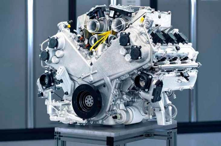 """Set to be deployed initially in theValhallamid-engined supercar from 2022, the enginehas already undergone """"extensive"""" dyno testing."""