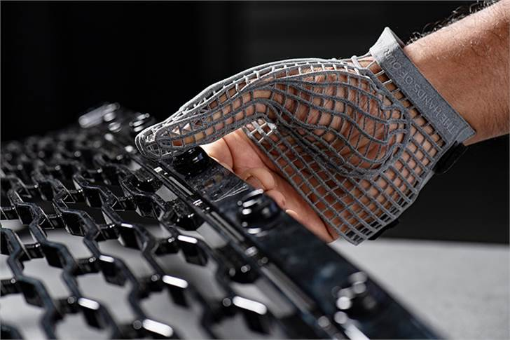 The 3D glove is designed for people working on the production line, for example those required to fit clips or fasteners into the chassis during assembly.