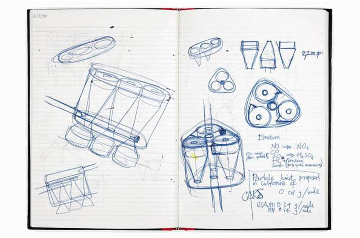 Dyson revealed sketches of some of the car