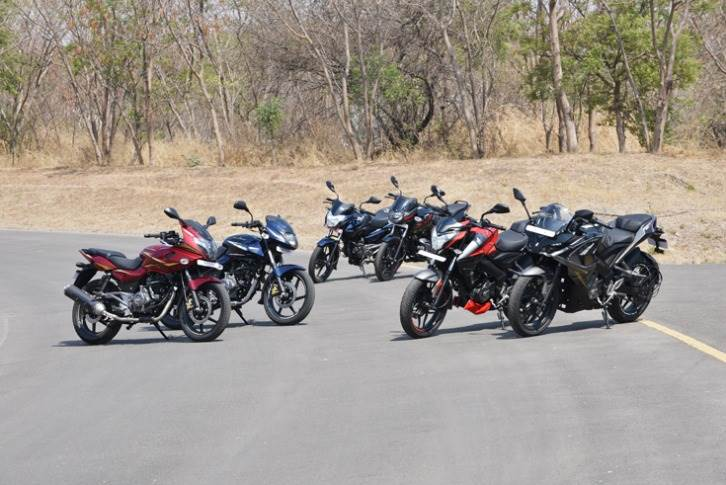 Bajaj sells a wide variety of motorcycles - all the way from a commuter to a fully-faired performance bike.