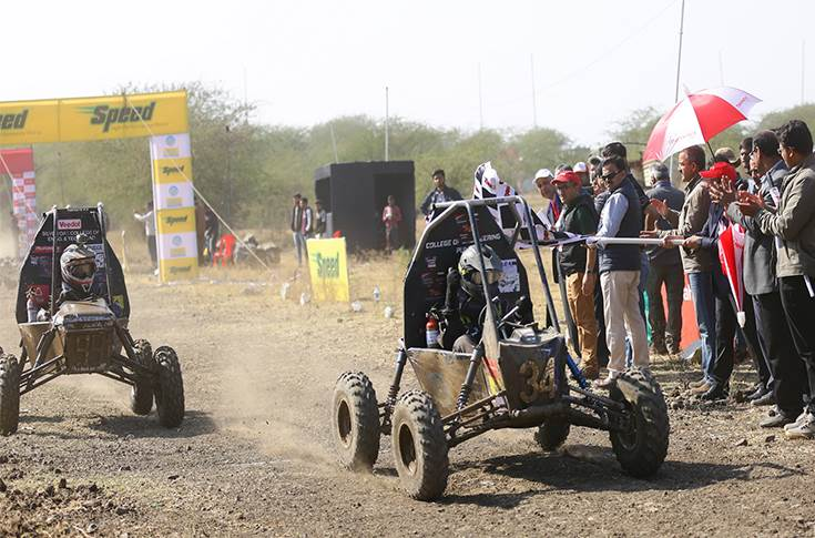 Chequered flag of the endurance race of mBAJA  SAE India