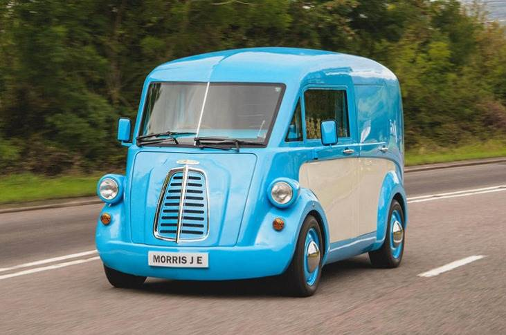 The 1940s styled electric van has a 200-mile range, 1000 kg payload and a 2.5-tonne gross weight.