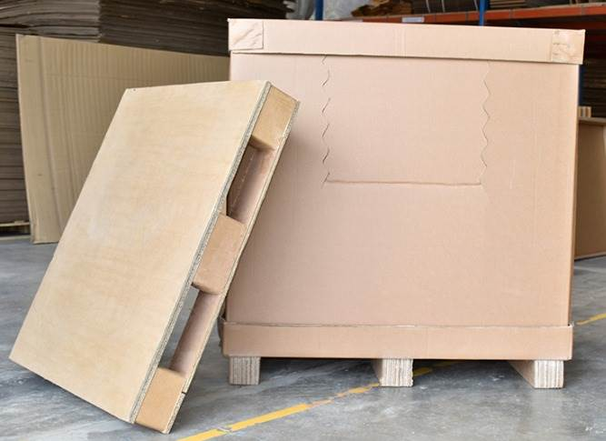 Pallet-less packaging and paper pallets are some sustainable products which completely replace use of wood.