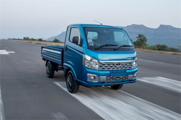 The Tata Intra has a top speed of 80kph. Ergonomic cabin and easy manoeuvrability aim to make driving a pleasurable experience.