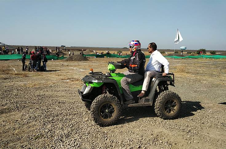 Dr Pawan Goenka inspecting the endurance race track