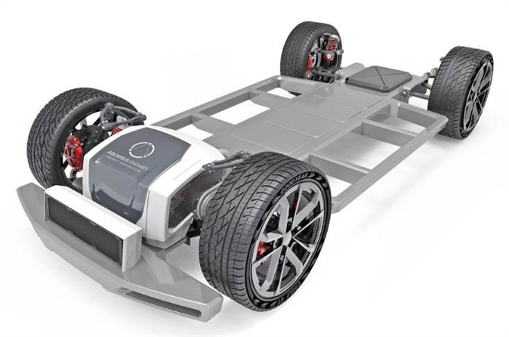 The Aquarius engine is already running in a driverless skateboard chassis to show its potential.
