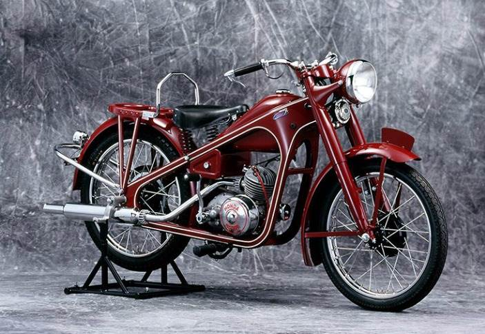 The Dream D-Type was Honda's first major motorcycle model manufactured in 1949.