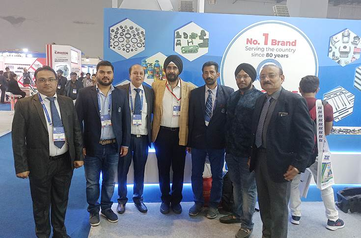 L-R: Ashish Mishra, AGM OEMs; Harkirat Singh, MD; Anil K Gambhir, GM Marketing; Diler Singh, GS Auto Agency Kanpur; R K Vig, AGM, Aftermarket; Simranjit Singh. GS Auto Agency Kanpur and Umesh Jhamb, Mentor.
