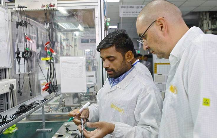 Continental's plant in Manesar reached a milestone of producing one million speed sensor units a month.