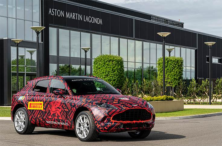 Aston Martin DBX at St Athan facility