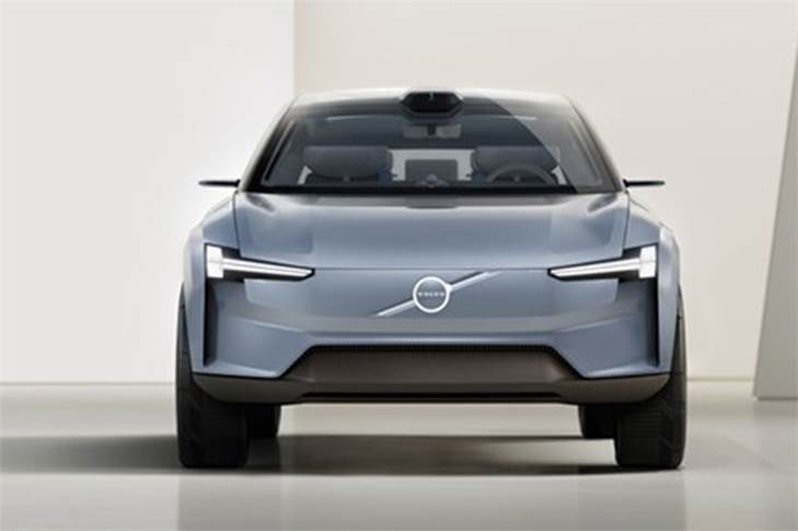 This concept car also introduces a new Volvo design language.