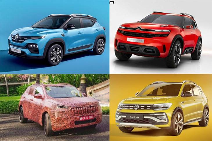 The booming SUV market is set to turn even more exciting this year what with the (clockwise from top left) Renault Kiger, Citroen C5 Aircross, Volkswagen Taigun and Skoda Kushaq slated to roll out.