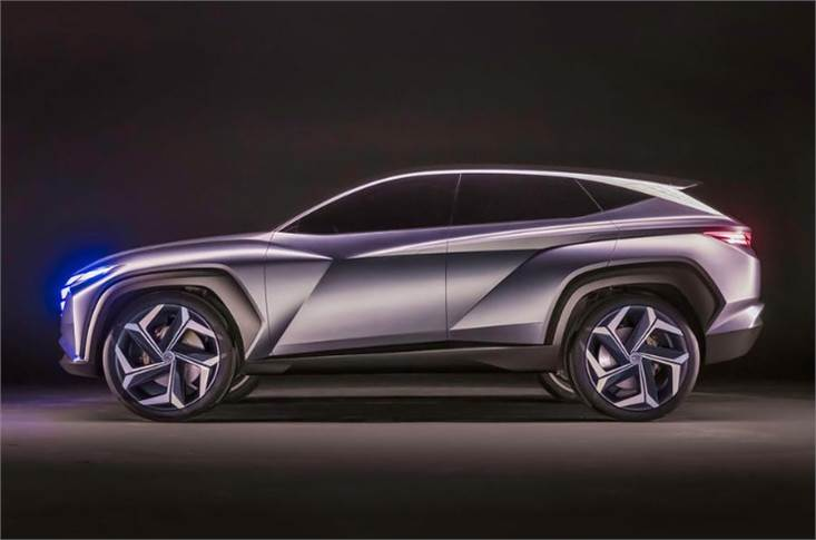 The Hyundai Vision T Plug-in Hybrid, revealed at the Los Angeles motor show