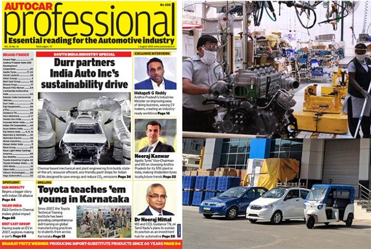 Autocar Professional's latest issue, its annual 'South India Industry Special' brings you highlights of the automotive action across Andhra Pradesh, Telangana, Tamil Nadu and Karnataka.