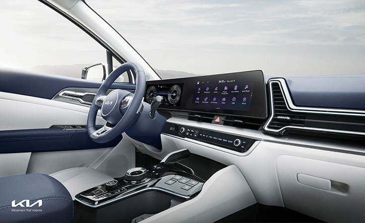 High-tech 12-inch touchscreen and advanced integrated controller act as the nerve center for driver and passenger connectivity,