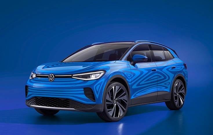 Volkswagen unveils new all-electric compact SUV ID.4 based on the new modular electric drive matrix (MEB).