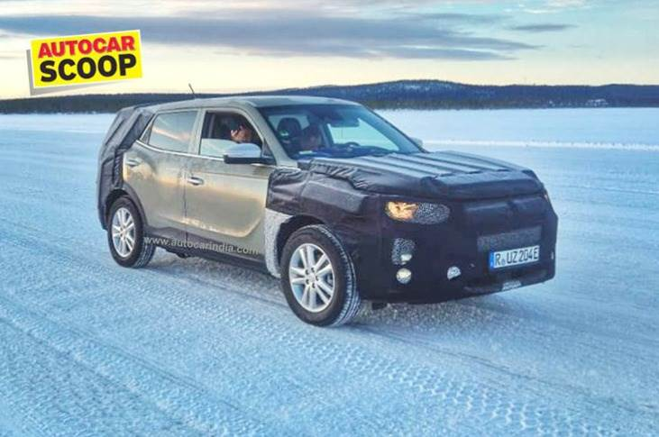 The all-electric version of the SsangYong Tivoli (codename: E100) recently snapped undergoing cold-weather testing in Sweden.