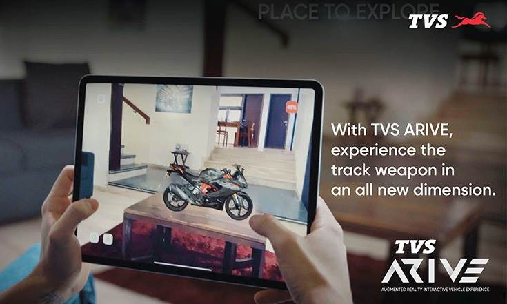 The online booking option from the TVS ARIVE app directs users to the company website.