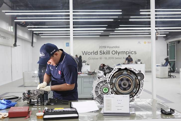 The biennial Hyundai World Skill Olympics is designed to improve technicians' skills through systematic training and by sharing up-to-date information in an interactive environment.