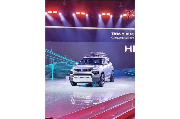 Tata Motors showcases the HBX UV Concept. This close-to-production concept will be the smallest SUV yet for the carmaker.