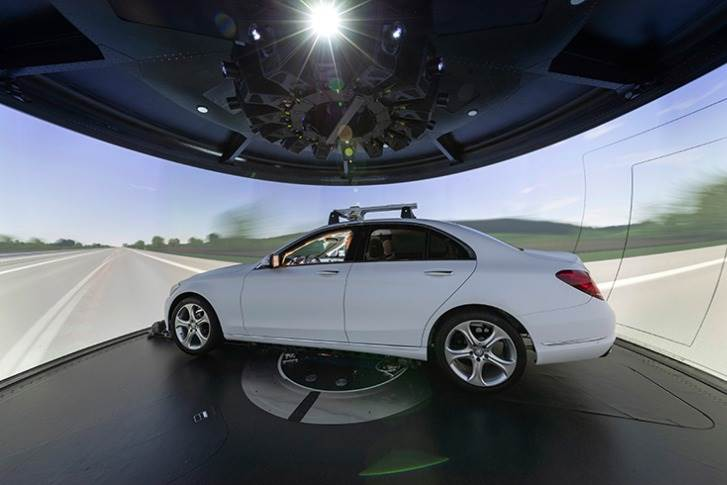 The driving simulator also plays an important role on the way to autonomous driving.