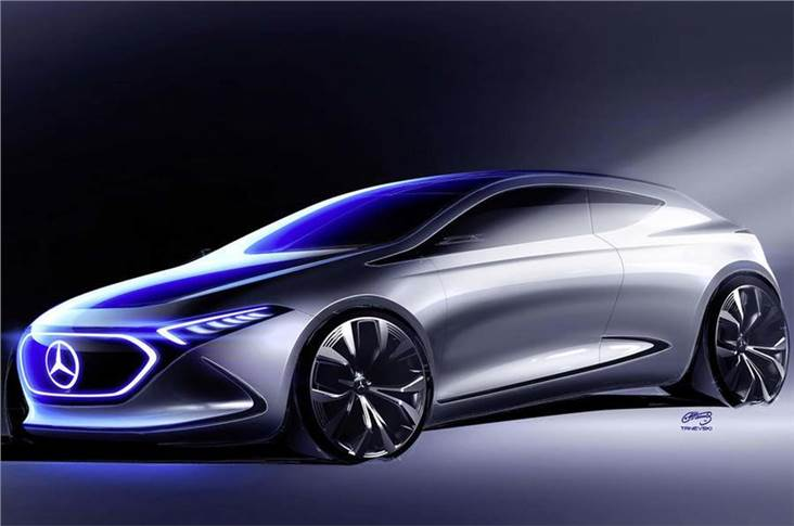 The Mercedes EQ A has been previewed in a new image.