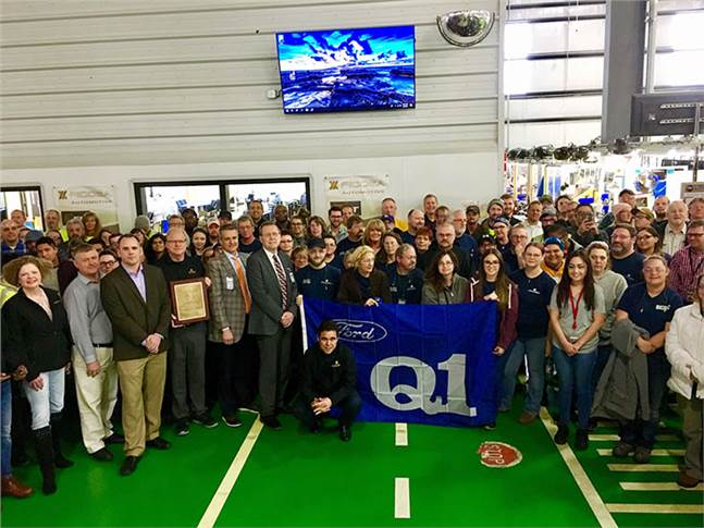 The Ficosa plant in Cookeville, Tennessee, has received the Ford Q1 award given to suppliers that meet high standards of quality and continuous improvement