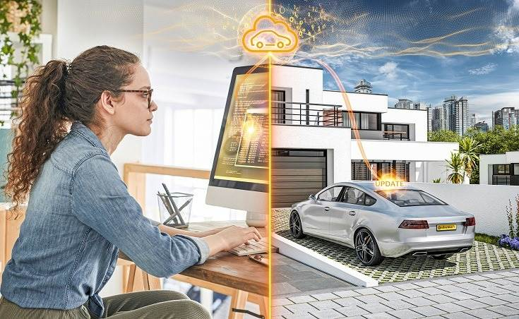 Continental says the partnership means software can be developed, tested and uploaded directly to vehicles more efficiently and safely.
