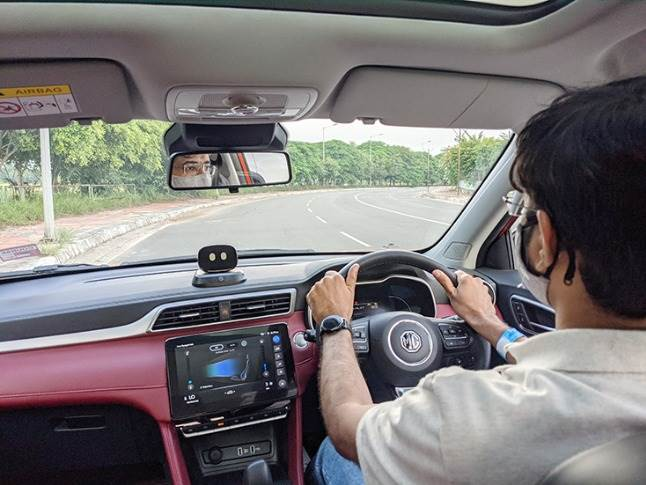 Astor offers a pliant ride quality with a well-tuned suspension but 1.3 turbo-petrol engine lacks outright punch and becomes noisy at high revs.