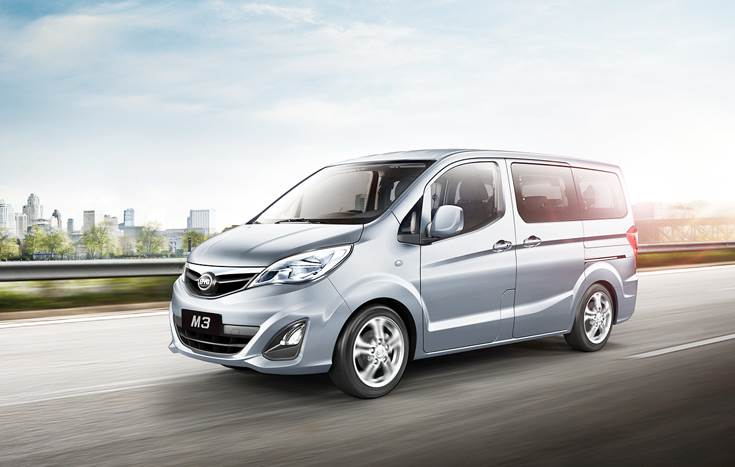 The full-electric T3 MPV takes 90 minutes for a full charge using DC charging equipment but can also take standard AC chargers. Once fully charged, both MPV and Minivan models can travel up to 300km.