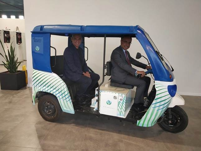 Mahindra Electric is testing out a new form of energy source – Phinergy's metal-air batteries – on its popular three-wheeler Treo.