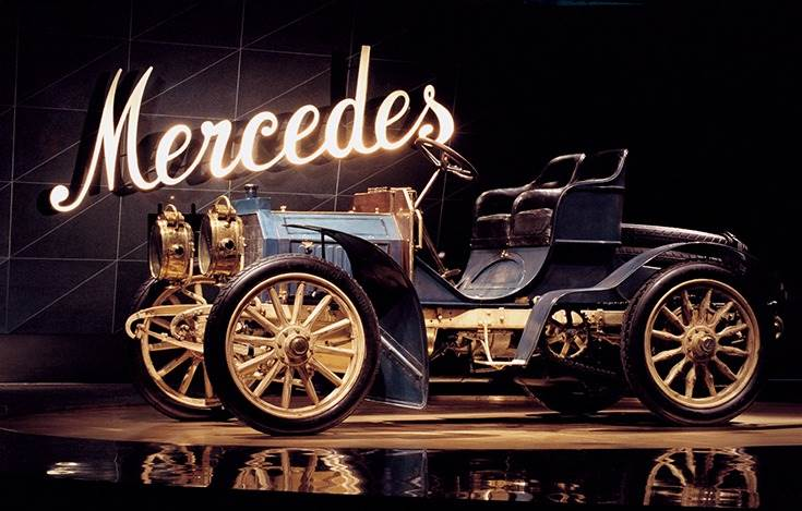 The oldest still existing Mercedes, a 40 hp Simplex from 1902.
