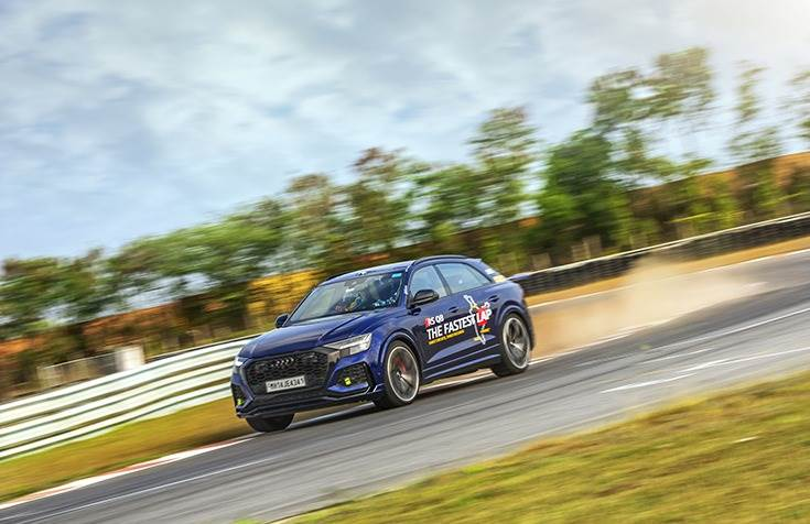 The Audi RSQ8 clocked a stupendous lap time of 1:52.91 at the Madras Motor Race Track
