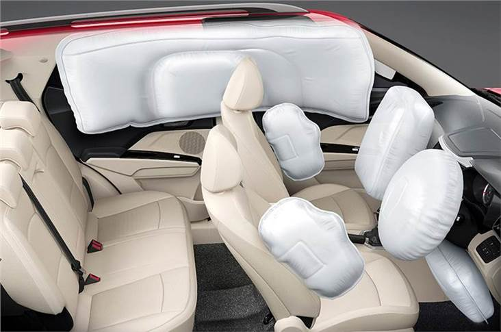 Seven airbags offered on top-spec XUV300 W8 variant.
