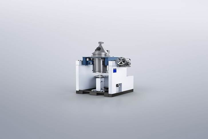 Trumpf's new depowdering station turns the printed part upside down and starts to vibrate until virtually all the excess powder has been removed.