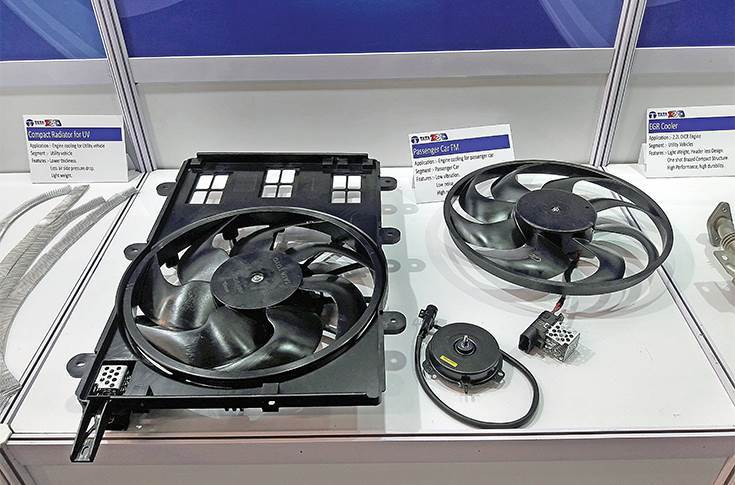 Fan parts, used for engine cooling in passenger cars, offer low levels of noise and vibration.