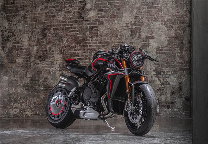 """Rush 1000 draws on Formula1 and MotoGP technology. MV Agusta says it offers """"a thrilling out-of-this-world riding experience, with hair-raising true MotoGP replica performance."""""""