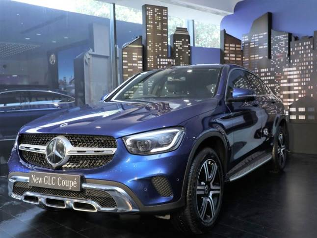 The made-in-India GLC Coupe has been launched in two variants: 300d 4MATIC diesel and 300 4MATIC petrol.
