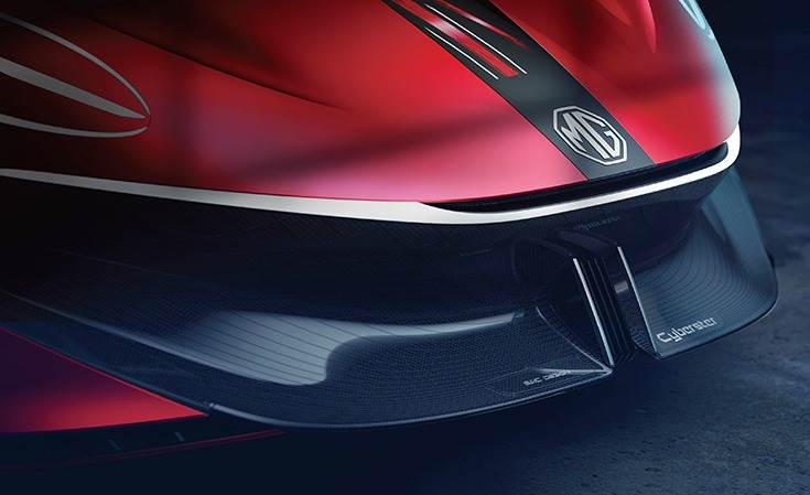 MG says Cyberster will offer sports-car level performance with 0-100kph in a claimed 3sec, along with an 800km range on a single charge from its battery pack.
